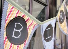 Chalk cloth bunting!