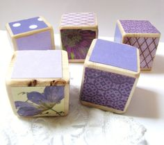 Baby Blocks Nursery/Home Decor Lilac Bloom purple by MiaBooo, $20.00