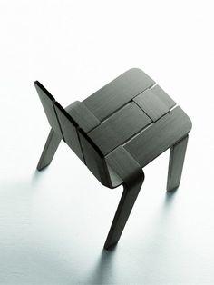 Wooden chair SASKI by ALKI   Design Jean Louis Iratzoki #chair #wood