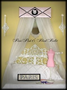 Crib Canopy Crown Princess Ballerina Paris Pink by SoZoeyBoutique, $49.98