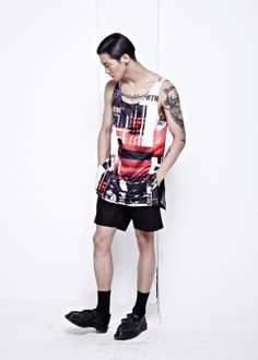 Collage Print Tank Top from Path