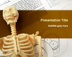 FreeSkeleton PowerPoint Template is a nice anatomy PowerPoint design and background that you can use for science projects, learning anatomy courses online as well as other skeleton related presentations including skulls, bones,Skeletal System, etc
