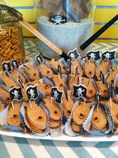 """Peanut butter """"fish shaped"""" sandwiches. Jake and the Neverland Pirates"""