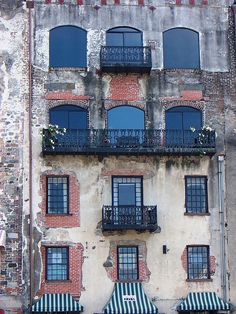 Balconies on River Street #savannah #noboysallowed