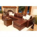 Elements Fine Home Furnishings - Del Mar Top Grain Leather Sectional - EQL1037  SPECIAL PRICE: $2,889.99