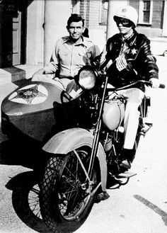 Andy Taylor & Barney Fife of The Andy Griffith Show.