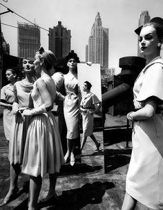 Evelyn Tripp, Isabella Albonico, Nena von Schlebrügge; photo by William Klein; New York, 1962