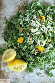 kale lemon salad lemon salad, lemons, kale lemon, cook foodist, almonds, healthi, kale salad, salads, heather christo
