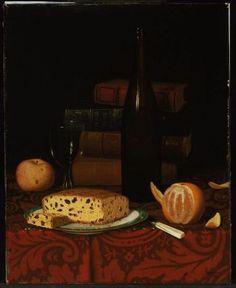 """William Michael Harnett's """"A Lunch."""" Museum of Fine Arts, Boston."""