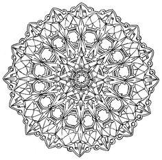 Mandala 580, Creative Haven Kaleidescope Designs Coloring Book, Dover Publications