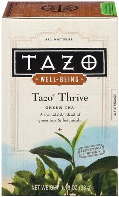 Tazo Well-Being Thrive, Green Tea, 16-Count Tea Bags (Pack of 6)