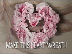 Make this Flower Heart Wreath (+playlist)