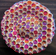 Decorative Dishes - Art Glass Iridescent Exotic Red Purple Marble Mosaic Plate, $19.99 (http://www.decorativedishes.net/art-glass-iridescent-exotic-red-purple-marble-mosaic-plate/)