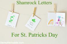 thumbprint shamrock cards--too cute!