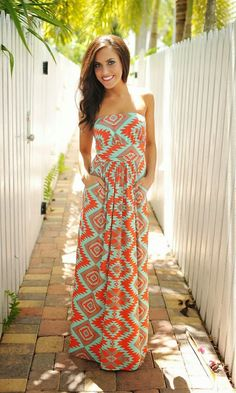 Stylish Summer Dress With Pocket