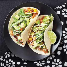 veggie soft tacos...Clean eating~