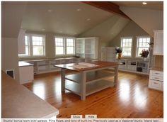 garag, craft studios, dream rooms, pine floor