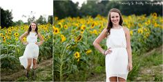 Sunflower field senior photos From blog post April- Harlem Georgia Senior 2014 by Kimberly S. Busby Photography