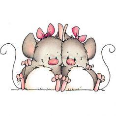 stamp, clip art, clipart, sweet mice, dibujo
