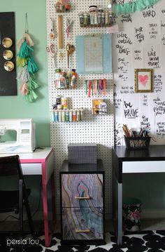 Multi-Purpose Craft Room TOUR - Alexis at Persia Lou Blog