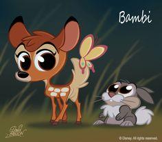 50 Chibis Disney : Bambi by princekido on deviantART