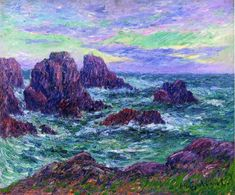 Evening at Ouessant  Henri Moret