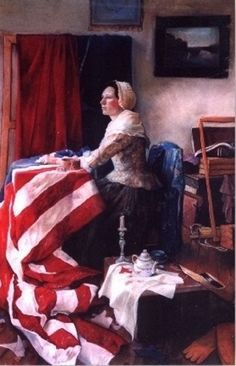 The American Flag, by Betsy Ross ♥