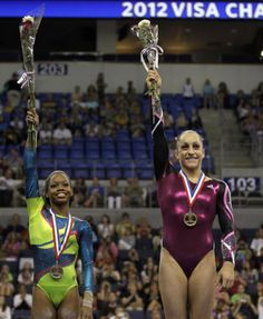 Jordyn Wieber, right, and Gabby Douglas. Last time was Shawn and Nastia. Now it's Jordyn and Gabby.