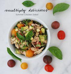 Summer Chicken Salad #paleo