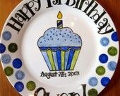 Personalized Birthday Plate . Happy Birthday Plates . Hand Painted Personalized Gifts