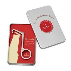 ONE-HANDED BOTTLE OPENER | kebo bar key, bottle tool | UncommonGoods