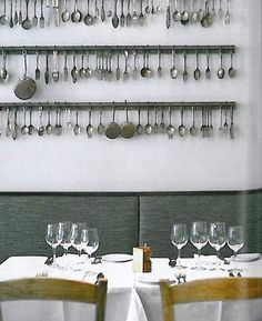 wall decor with flea market spoons