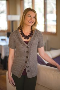 Chesapeake Sweater - from the Fall 2014 Issue of Love of Crochet magazine  A relaxed fit and rich Tunisian crochet fabric give this buttoned cardigan a sophisticated yet earthy appeal. The body is worked in one piece, making your finishing work a breeze, while the set-in sleeves and ribbed trim create a timeless style.