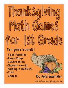 Thanksgiving games for 1st grade!