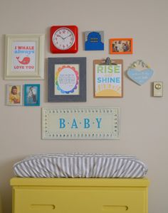 baby nursery collage wall
