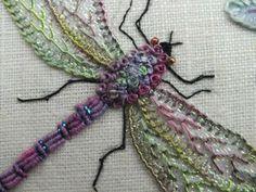 Tutorial: Sparkling embroidered dragonflies | Needlework News | CraftGossip.com