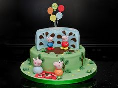 #PeppaPig Puddle Cake #muddypuddles