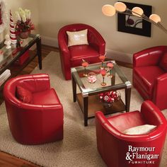 Conrad Accent Chair | Relax in style with this generously scaled, European-style leather swivel accent chair in antique red.