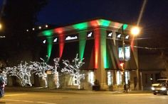 Christmas colours at
