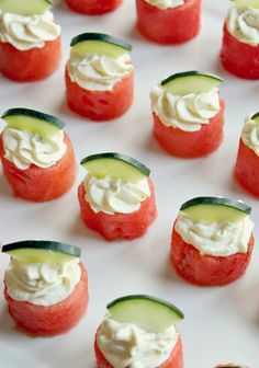 Watermelon Goat Cheese Bites by mintlovesocialclub #Appetizer #Watermelon #Goat_Cheese #Healthy #Light #Easy