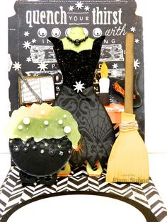 By Fran Sabad, Fran brews up an amazing Witch-themed Halloween pop-up card using the Stampin' Up! Pop 'n Cuts - stampersblog: Bewitched Pop N Cuts