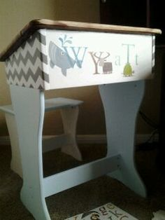 Great tutorial on how to upcycle a battered old school desk!