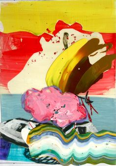 """Saatchi Online Artist: pier wright; Acrylic, 2011, Painting """"boom the boat"""""""