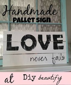 Handmade sign - Remind yourself why you fell in love all over again!  www.diybeautify.com