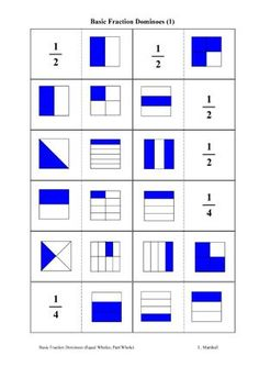Here's a nice set of fraction dominoes for download.