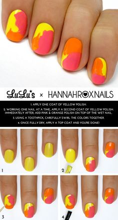 Mani Monday: Bright Watercolor Mani Tutorial - Lulus.com Fashion Blog