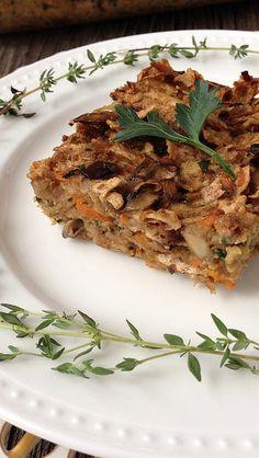 Mushroom Matzo Kugel from Meal Makeover Moms' Kitchen #Passover