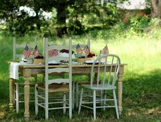Star Spangled Table Setting