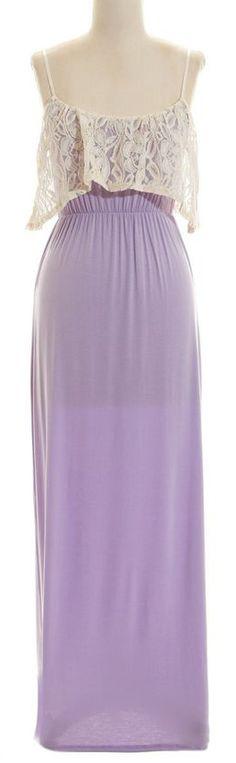 maxi dresses, color, lilac maxi, dress fashion, maxi dress with lace, lace overlay, eleg maxi