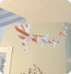 paper airplan, hous, airplane party, airplan babi, garland